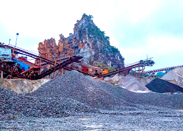 Shanxi Shangluo stone crushing production line