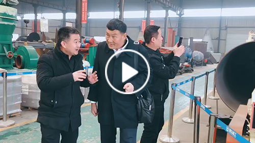 Shanxi customers go to the workshop to learn about dryer machine