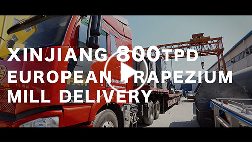 Xinjiang 800TPD European Trapezium Mill delivery