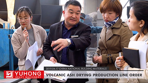 VOLCANIC ASH DRYING PRODUCTION LINE orDER